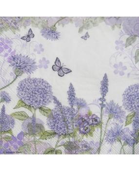 Χαρτοπετσέτες Decoupage 33 x 33 wildflowers