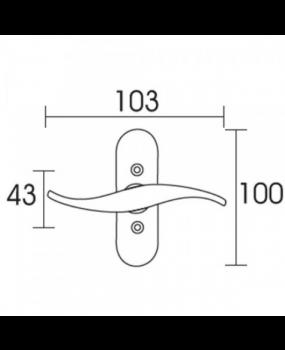 Γρυλόχερο παραθύρων χρυσό ματ  Conset C435