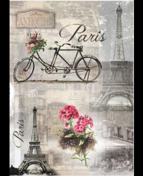 Ριζόχαρτο Α4 40gr Παρίσι, αρχιτεκτονική, παλιό ποδήλατο