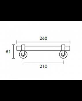 Λαβή εξώπορτας 210mm  νίκελ ματ  C544