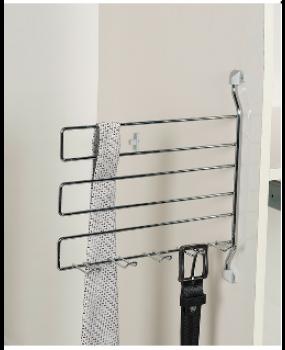Κρεμάστρα ντουλάπας για γραβάτες και ζώνες S 6054  inox