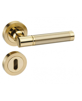Χερούλι πόρτας ροζέτα χρυσό new desing 53