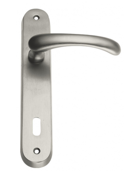 Χερούλι πόρτας πλάκα nickel matt  new desing 64