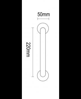Λαβή πόρτας νίκελ ματ ορείχαλκος  04.700 Viometal