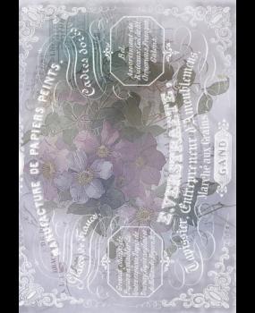 Ριζόχαρτο Α4 40gr Λουλούδια .. vintage στυλ