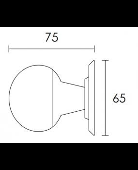 Μπούλ εξώπορτας mat antique C521