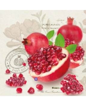 Χαρτοπετσέτες Decoupage 33 x 33  Pomegranate