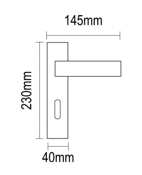 Χερούλι πόρτας πλάκα νίκελ ματ  06.950 economy viometal