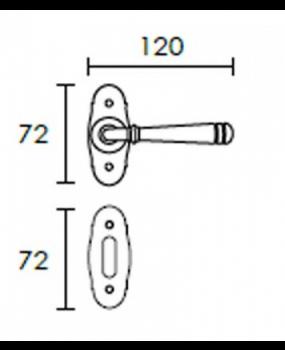 Χερούλι πόρτας Φυσικός σίδηρος new desing C955