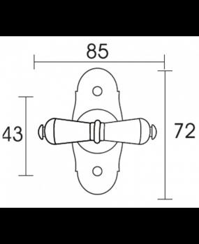 Γρυλόχερο παραθύρων Φυσικό Σίδηρο C955