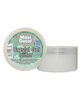 Crystal gel glitter για decoupage 100ml