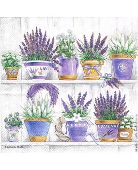 Χαρτοπετσέτες Decoupage 33 x 33 lavender