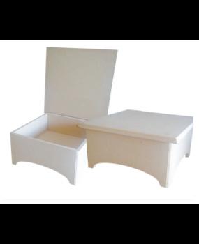 Κουτί από MDF 8mm με καμάρα-ποδαράκι σε 16x16x9 & 20x20x9  100-104