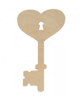 Ξύλινη Καρδιά Κλειδί