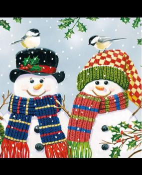 χιονάνθρωποι με κασκόλ