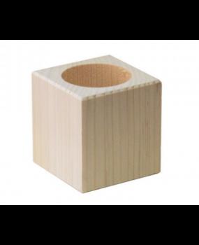 Ξύλινη Θήκη για Ρεσώ 7x7x7cm