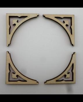 Ξύλινη γωνία διακοσμητική (4 τεμάχια)