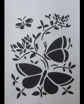 Stencil λουλούδι