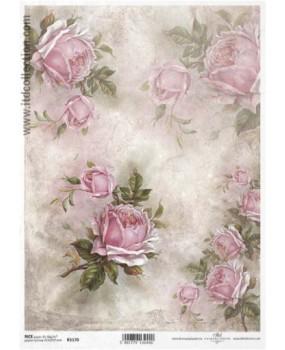Ριζόχαρτο Α4 40gr Ροζ τριαντάφυλλα 1170
