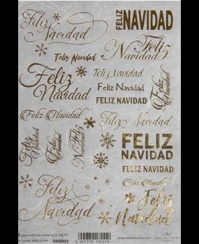 Ριζόχαρτο Α4 Χριστούγεννα-χρυσά γράμματα  RH0001