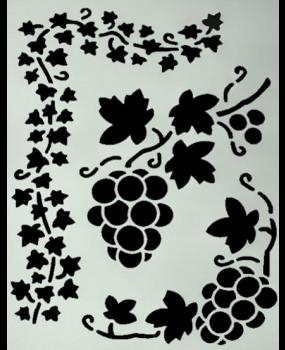 Stencil Σταφυλι Α4
