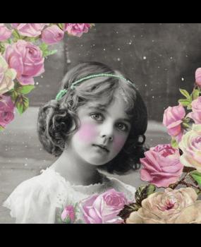 vintage_κοριστιακι_με_λουλουδια