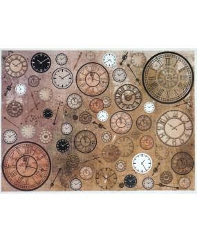 Ριζόχαρτο Α4 40gr  Vintage Clocks R1110