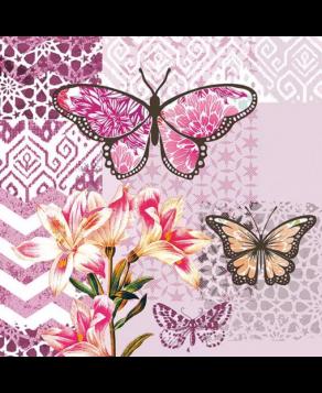 Χαρτοπετσέτες Decoupage 33 x 33 garden of joy