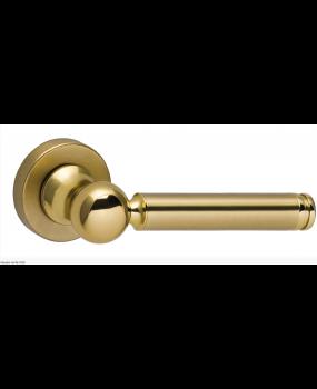 Χερούλι πόρτας ροζέτα χρυσό ματ ορείχαλκος  06.1020