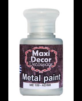 Μεταλλικό χρώμα για decoupage σε 60 & 130ml me 109 Ασημί