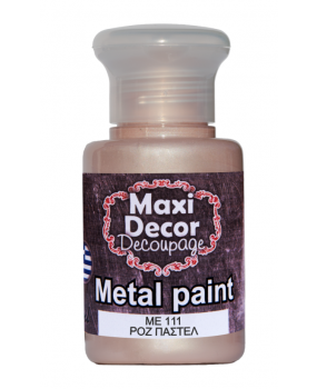 Ακρυλικό χρώμα για decoupage σε 60 & 130ml ma 035 Ρόζ παστέλ