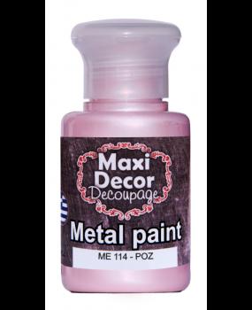 Μεταλλικό χρώμα για decoupage σε 60 & 130ml me  114 Ρόζ