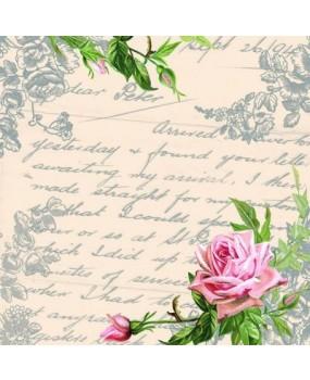 Χαρτοπετσέτες Decoupage 33 x 33 love letter