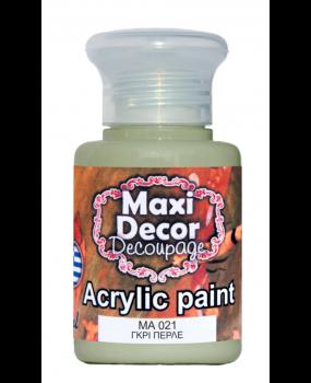 Ακρυλικό χρώμα για decoupage σε 60 & 130ml ma 021 Γκρί περλέ