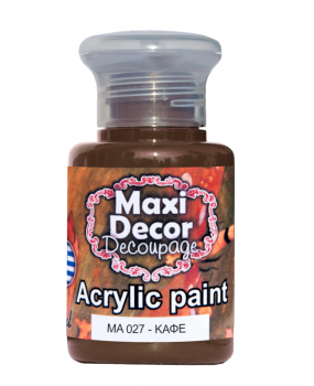 Ακρυλικό χρώμα για decoupage σε 60 & 130ml ma 027 Καφέ