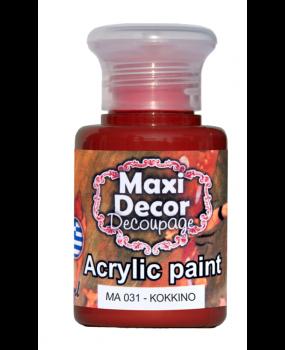 Ακρυλικό χρώμα για decoupage σε 60 & 130ml ma 031 Κόκκινο