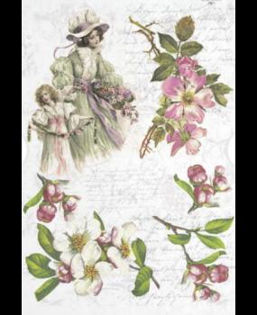 φόντο με λουλούδια και γυναίκες...