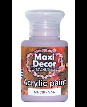 Ακρυλικό χρώμα για decoupage σε 60 & 130ml ma 036 Λιλά