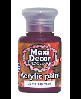 Ακρυλικό χρώμα για decoupage σε 60 & 130ml ma 039 Μελιτζανί
