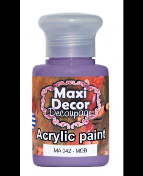 Ακρυλικό χρώμα για decoupage σε 60 & 130ml ma 042 Μώβ