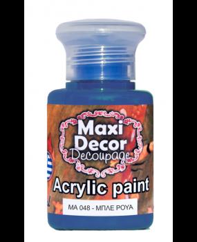 Ακρυλικό χρώμα για decoupage σε 60 & 130ml ma 048 Μπλέ ρουά
