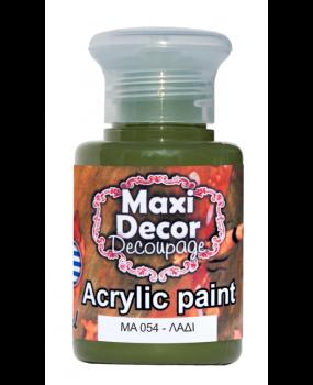 Ακρυλικό χρώμα για decoupage σε 60 & 130ml  ma 054 Λαδί