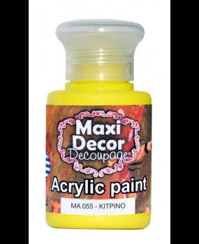 Ακρυλικό χρώμα για decoupage σε  60 & 130ml  ma 055 Κίτρινο