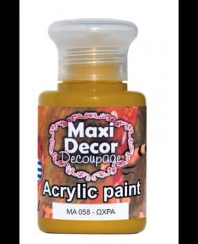 Ακρυλικό χρώμα για decoupage σε 60 & 130ml  ma 058 Ώχρα