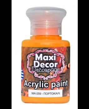 Ακρυλικό χρώμα για decoupage σε 60 & 130ml  ma 059 Πορτοκαλί