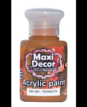 Ακρυλικό χρώμα για decoupage σε  60 & 130ml  ma 065 Τερακότα