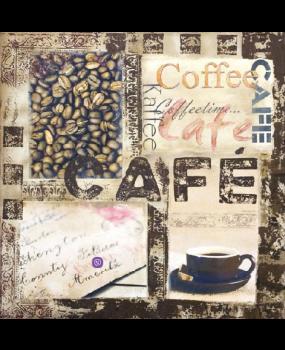 Χαρτοπετσέτες Decoupage 33 x 33 Kaffee