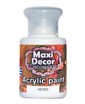 Ακρυλικό χρώμα για decoupage σε 60 & 130m Λευκό