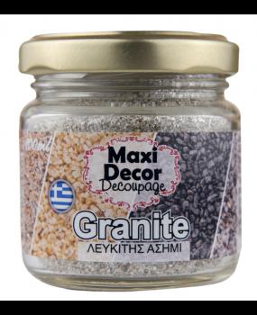 Ειδικά Εφέ ''Granites Λευκίτης Ασημί.'' για decoupage 100ml