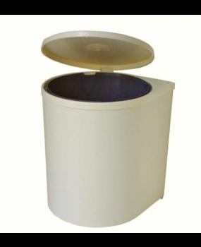 Κάδος Απορριμμάτων Κουζίνας πλαστικός λευκός S 2225